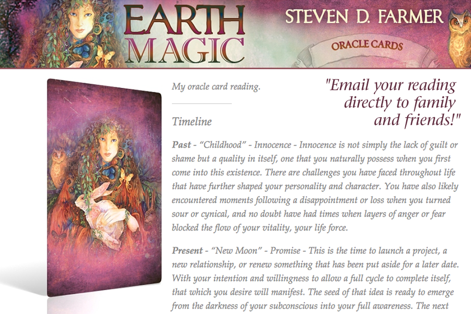 Earth Magic Oracle Cards - Steven D. Farmer, Ph.D. by Oceanhouse Media